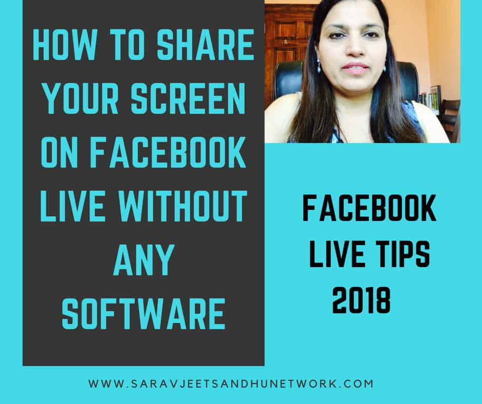 Facebook Live Tips 2018 | How to Share Your Screen On Facebook Live Without Any Software