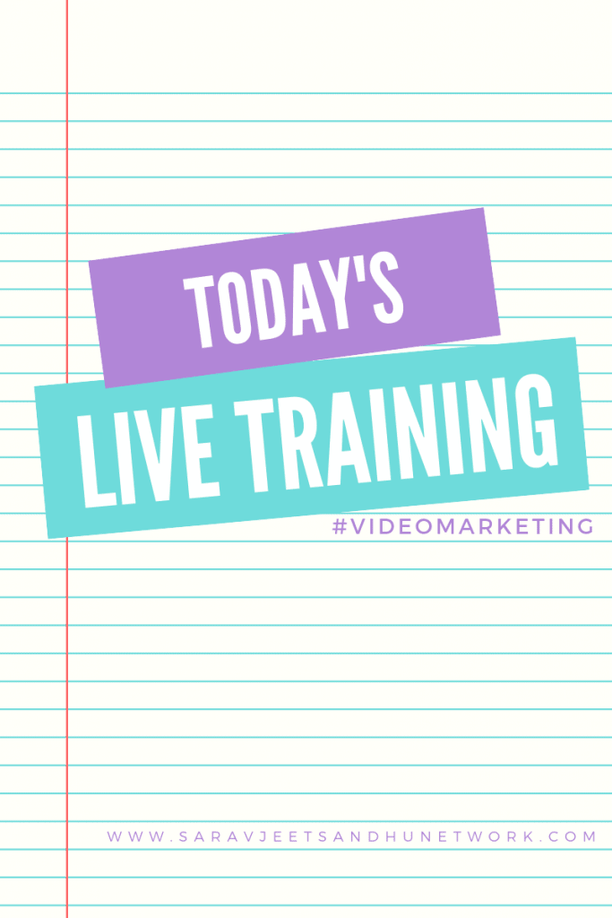 TODAY'S LIVE TRAINING